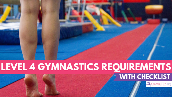 Level 4 Gymnastics Requirements with free checklist download