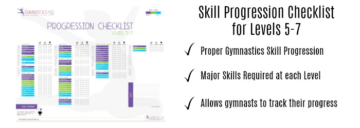 Progression Checklist Level 5 7