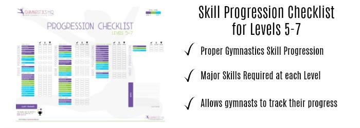 gymnastics checklist level 5-7