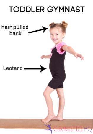 toddler gymnast wear to gymnastics class