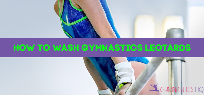 how to wash gymnastics leotards