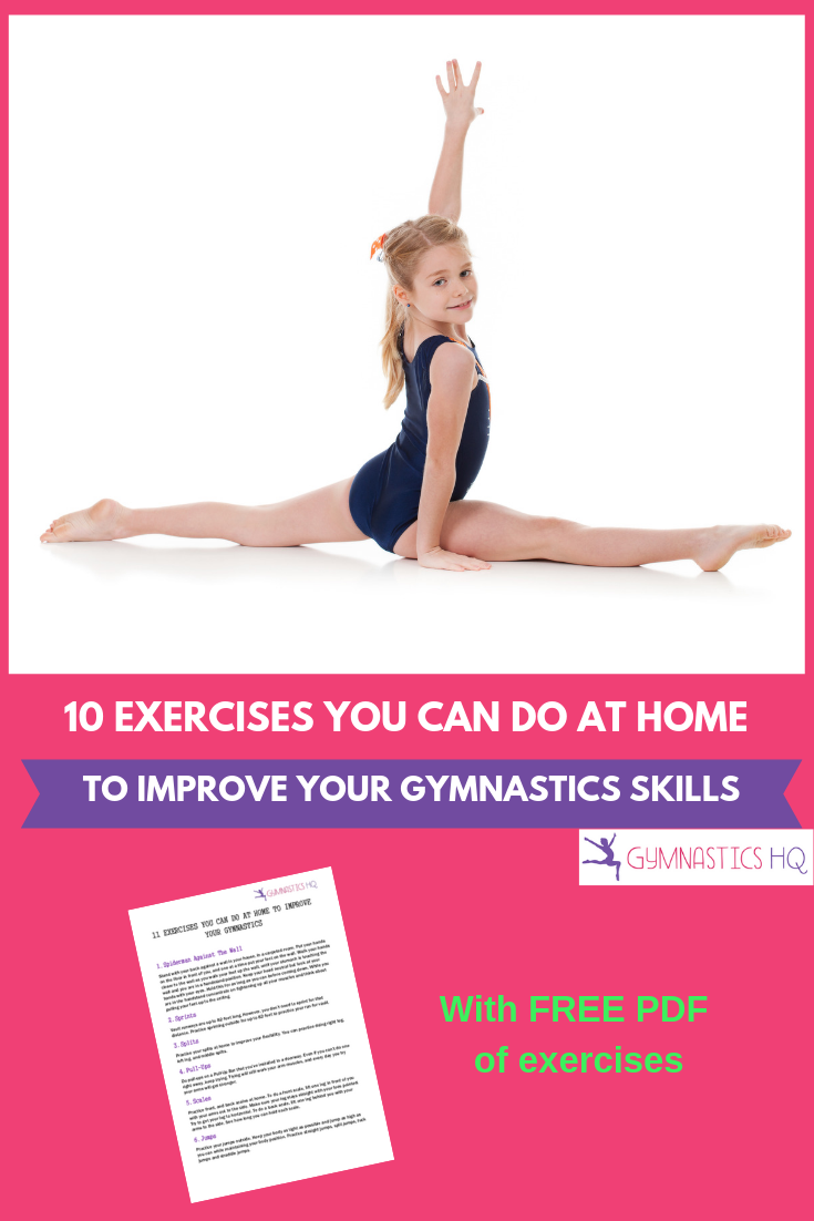 10 Exercises You Can Do At Home to Improve Your Gymnastics Skills with FREE PDF