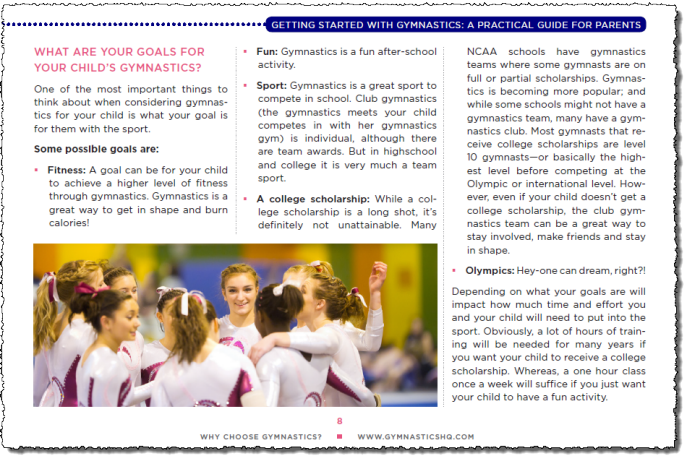 getting started with gymnastics page