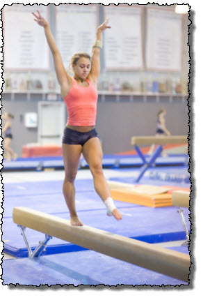 gymnast training