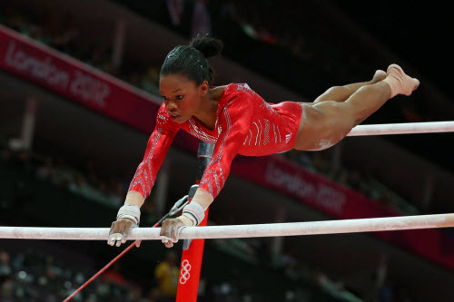 gabby douglas cast on bars