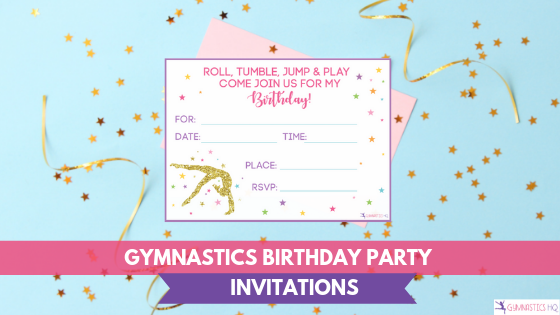 Invitations for your gymnastics birthday party