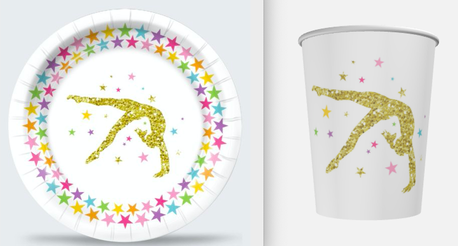 gymnastics birthday party supplies