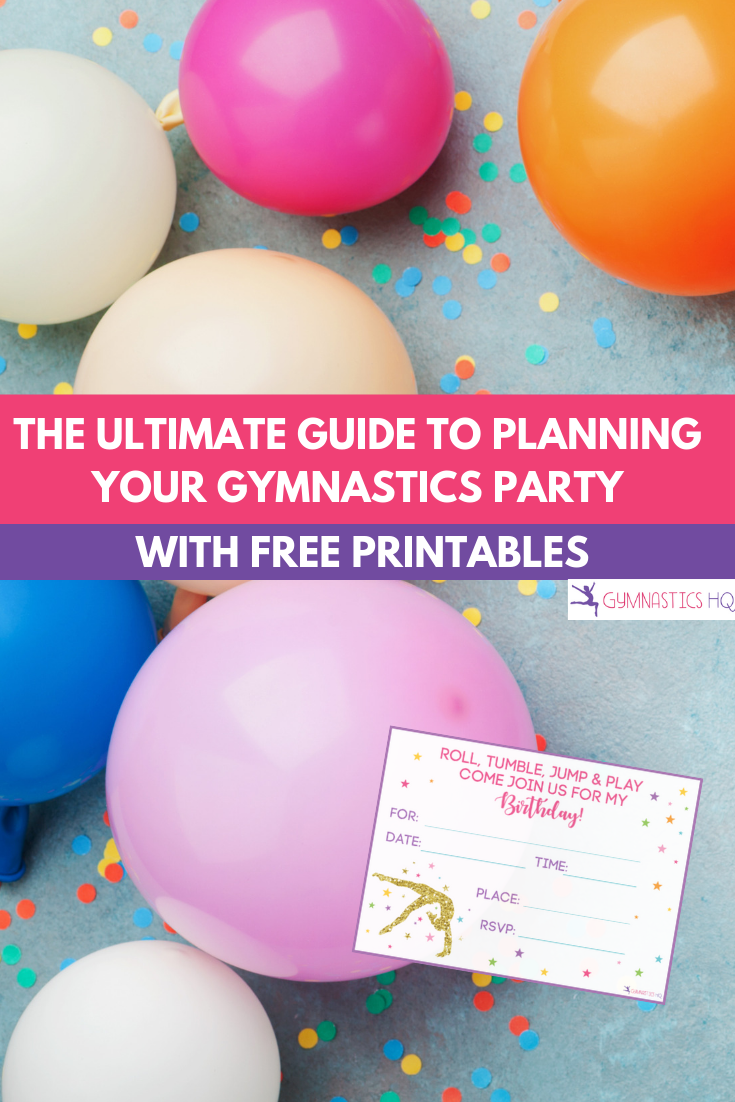 Here's the ultimate guide to planning your gymnastics birthday party.