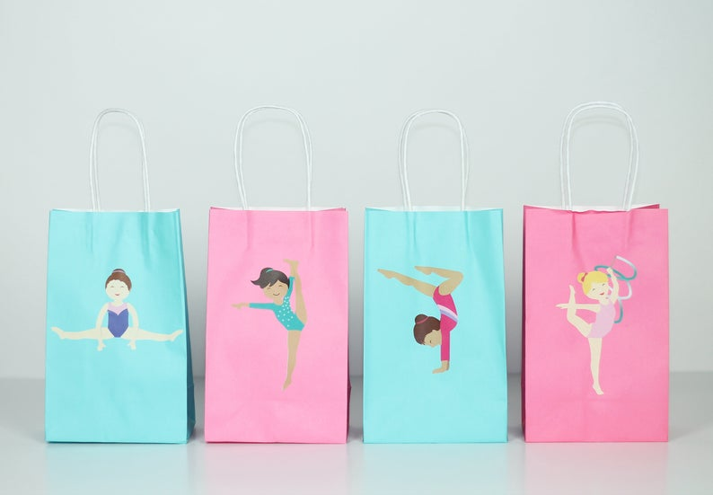 gymnastics stickers for party favor bags