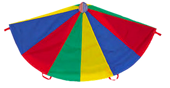 Looking for games to play at your next gymnastics party? Check out this parachute for a great time!