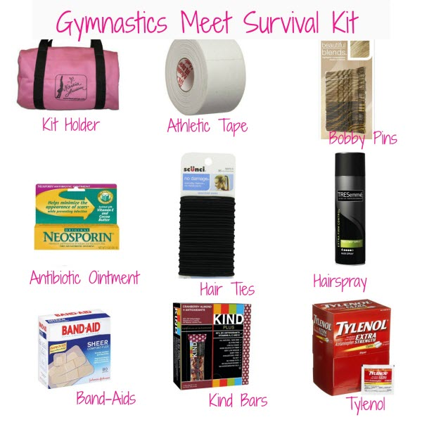 Gymnastics Meet Survival Kit