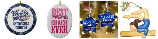 gymnastics coach ornament