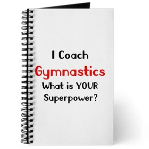 gymnastics coaches notebook
