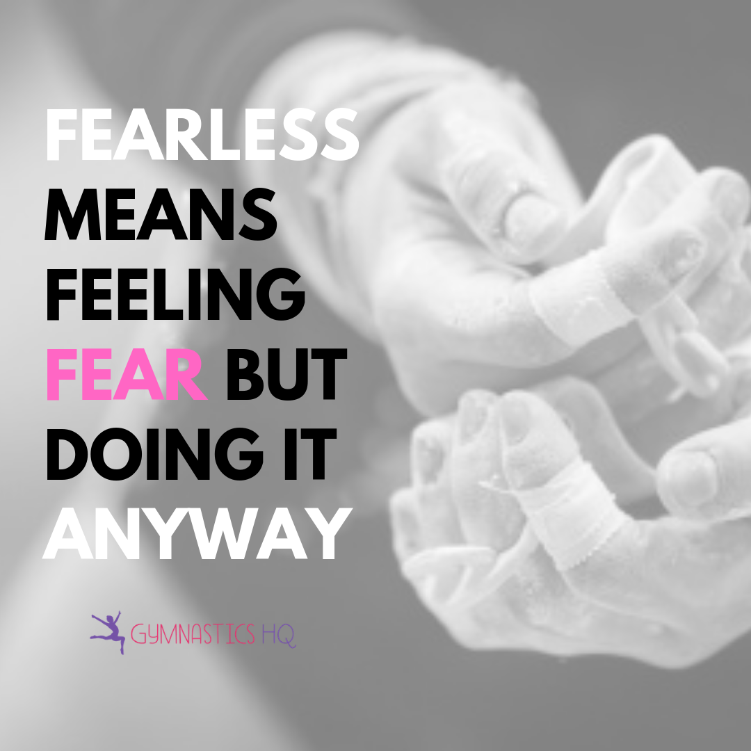 Gymnastics quote about being fearless