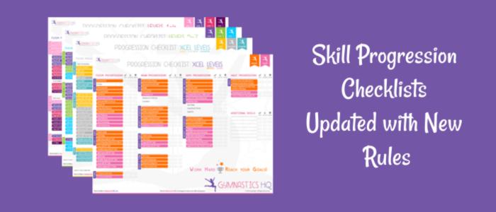 Gymnastics Skill Progression Charts