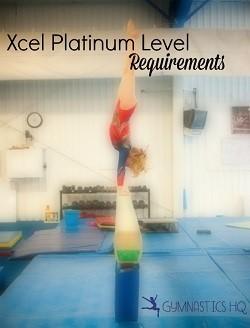 xcel platinum gymnastics level requirements