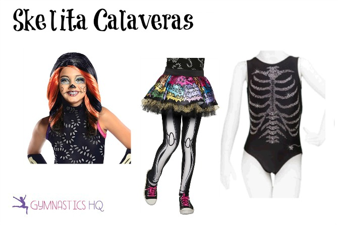 skelita calaveras costume with leotard