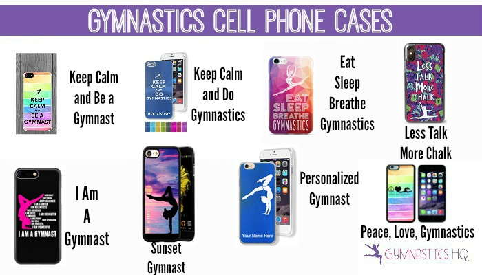gymnastics cell phone case gifts