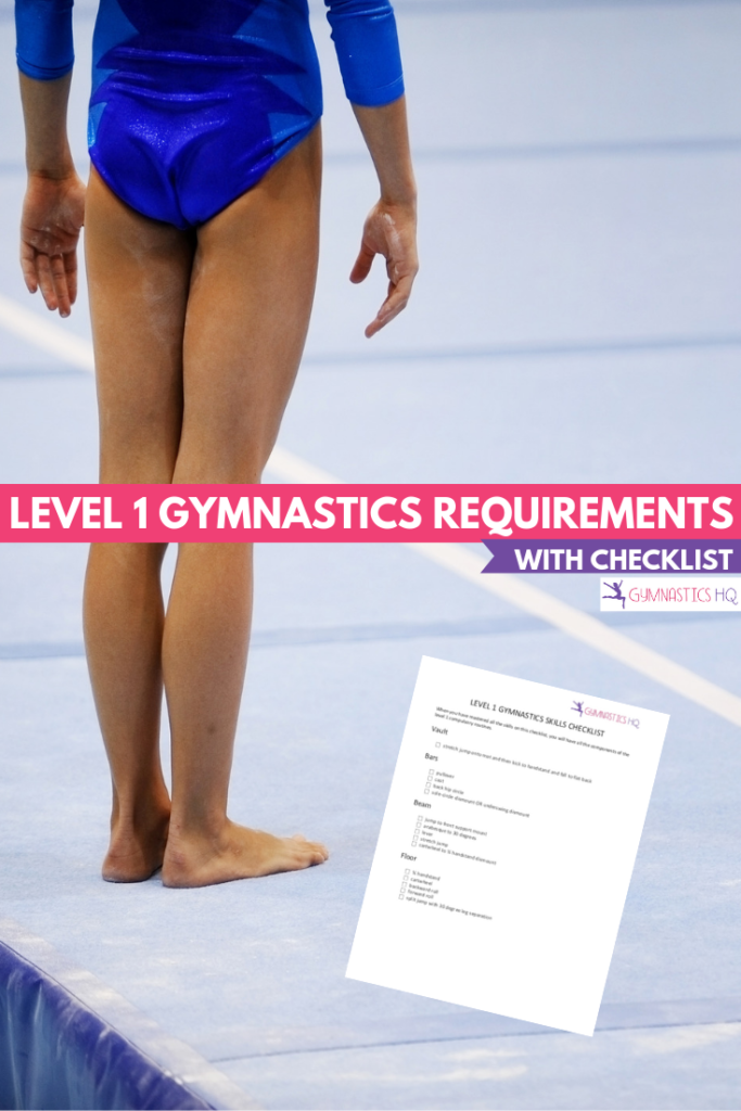 Download our Level 1 Gymnastics Requirements checklist