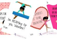 5 Valentine's Day Gymnastics Gift Ideas with Printable Valentines