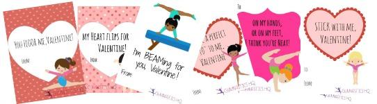 gymnastics valentines