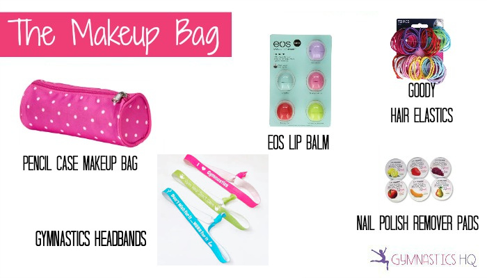 gymnastics goody bag idea makeup bag