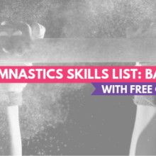 Gymnastics Skills List: Bars