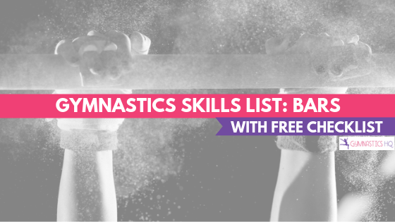 Gymnastics Skills List for Bars