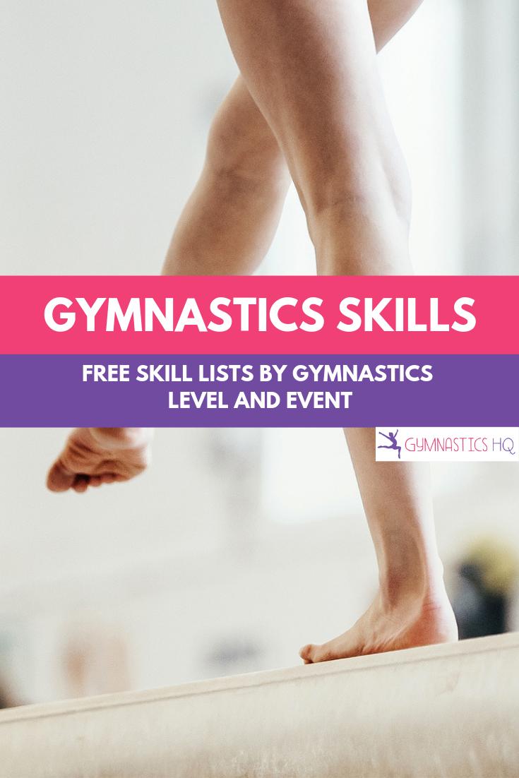 Gymnastics Skills Lists