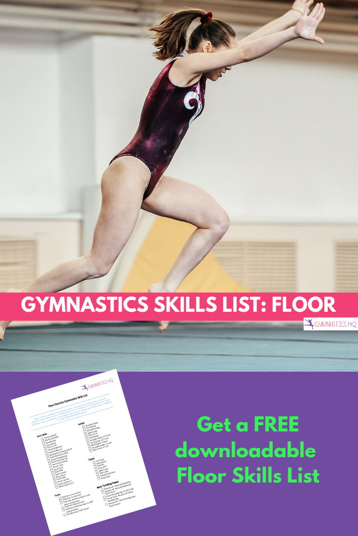 Floor skills list for gymnastics