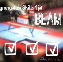 Gymnastics Skills List: Beam