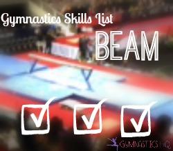 beam gymnastics skills list