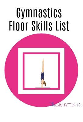gymnastics floor skills list