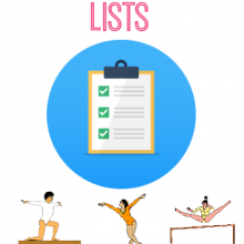 Gymnastics Skills: Skill Lists by Gymnastics Level and Event