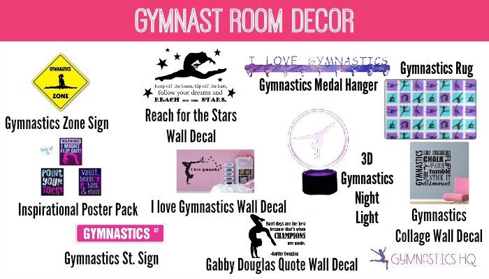 gymnast room decor gifts