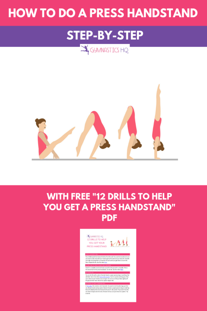 A guide to learning your press handstand