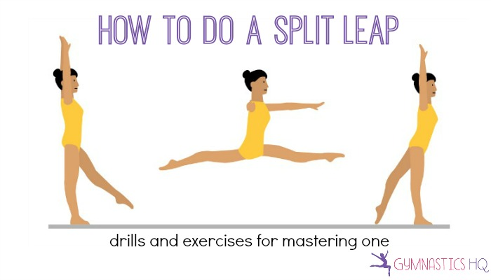 how to do a split leap