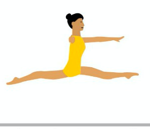 A split jump is when you jump off the ground with two feet.