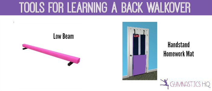tools for learning a back walkover