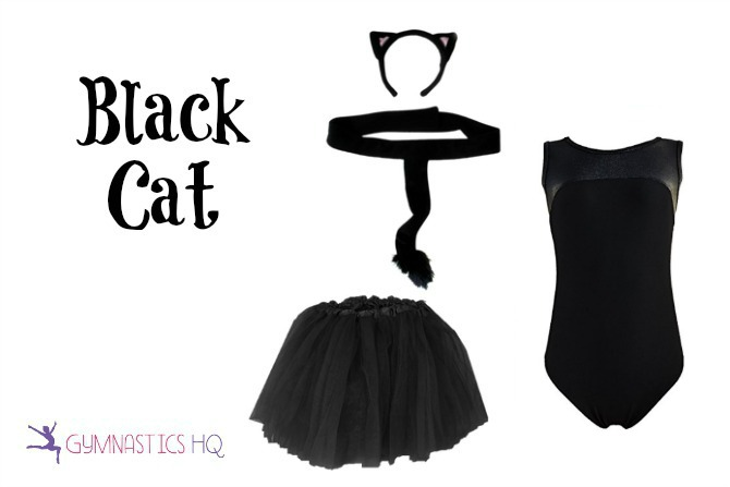 black cat costume with leotard