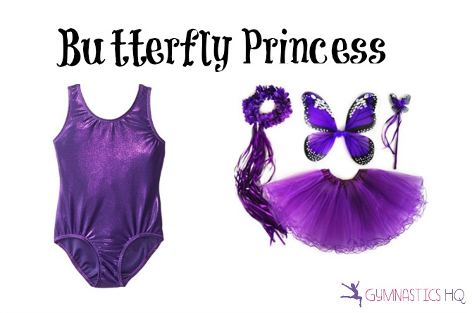 butterfly costume with gymnastics leotard