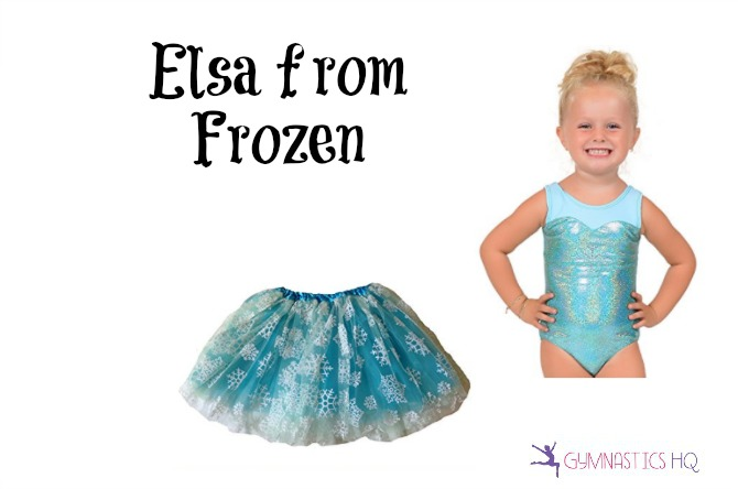 elsa from frozen costume with leotard