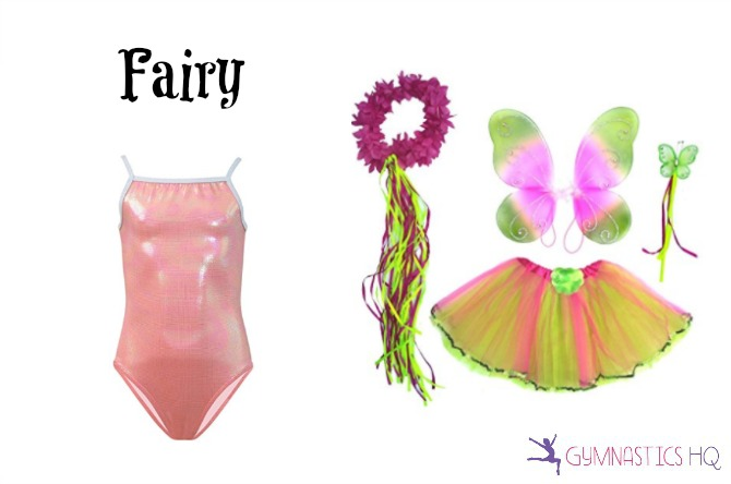 fairy costume with gymnastics leotard