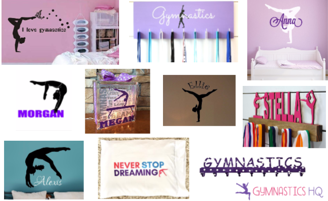 Here are some ideas for decorating your gymnastics bedroom.