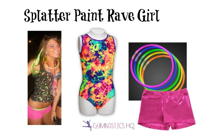 halloween costume with leotard rave girl
