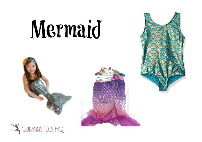 mermaid costume with gymnastics leotard