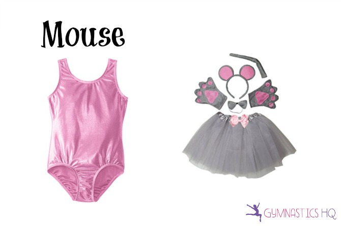 mouse costume with gymnastics leotard