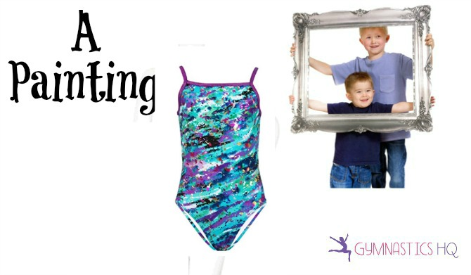 painting costume with gymnastics leotard