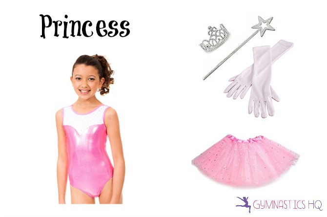 princess halloween costume with gymnastics leotard