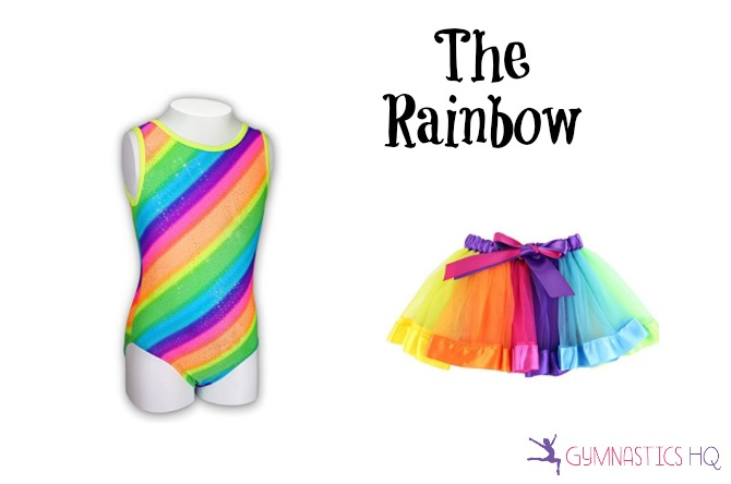 rainbow halloween costume with leotard